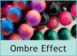 Ombre Effect Glass Beads