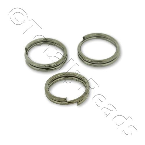 Split Rings 8mm - Black Plated
