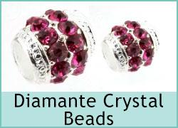 Diamante Crystal Beads