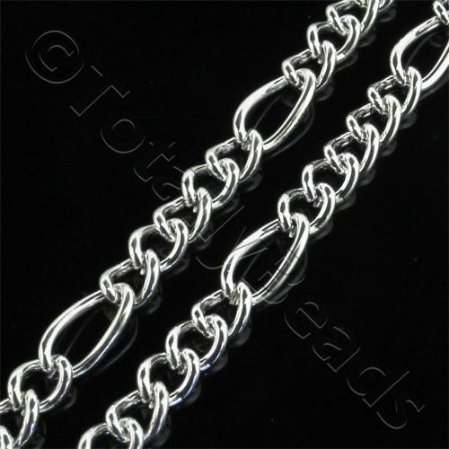 Chain Silver Plated - Oval Twist 25x4mm