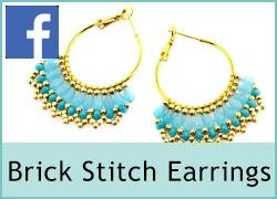 Brick stitch earrings - 1st May