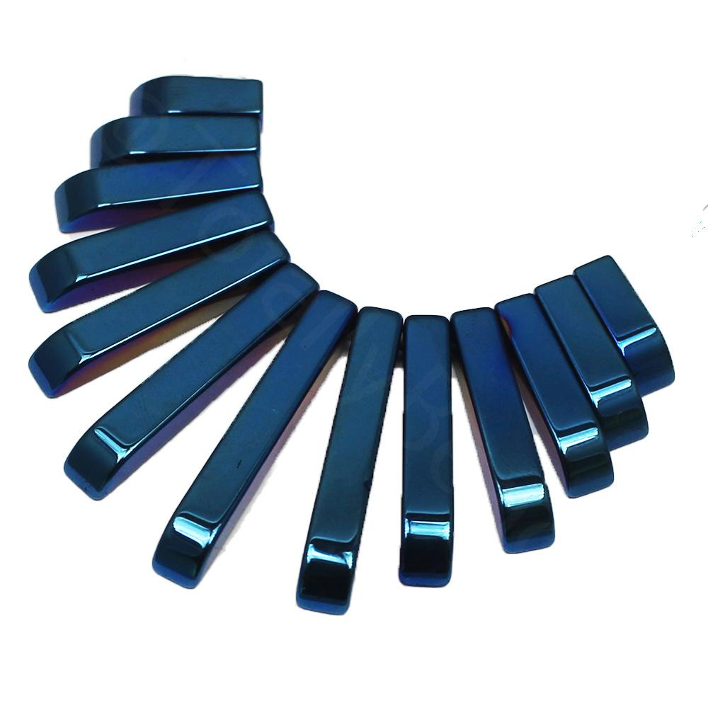 Hematite Egyptian Collar 13pc Blue Plated