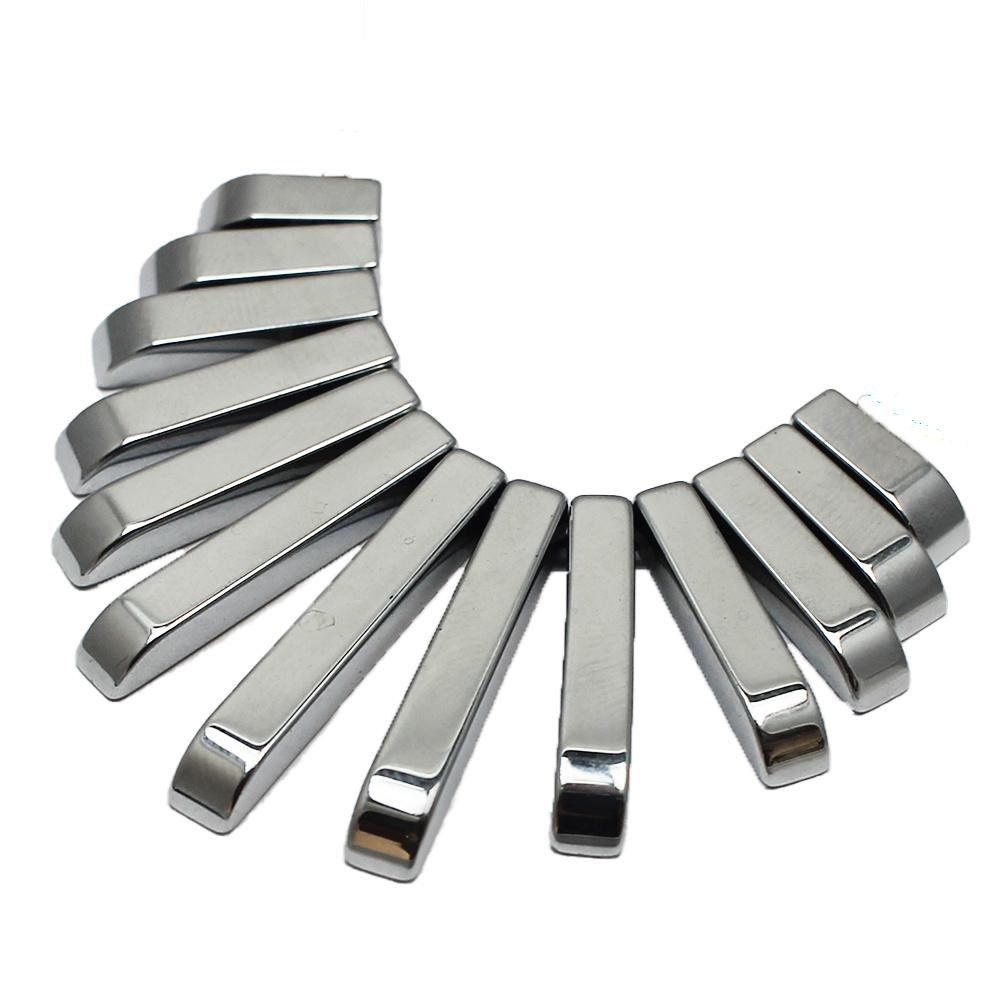 Hematite Egyptian Collar 13pc Silver Plated