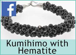 Kumihimo with Hematite - 14th June