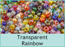 Transparent Rainbow Seed Beads