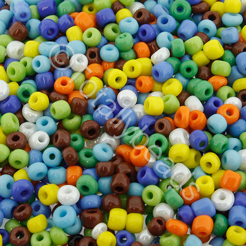 Seed Beads Opaque  Mixed - Size 8