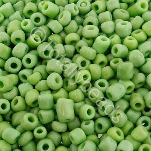 Seed Beads Opaque  Light Green - Size 6