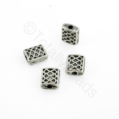 Antique Silver Bead 6x5mm 25pcs