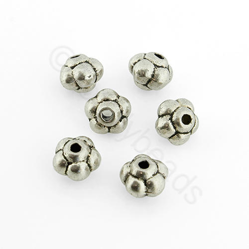 Antique Silver Metal Bead - Bubble 5x6mm 25pcs - A1479