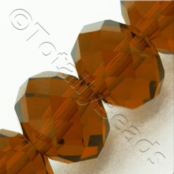 Crystal Rondelle - 10x14mm Brown
