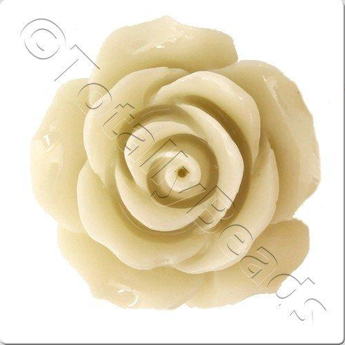 Acrylic Rose 25mm 2 Row - Cream
