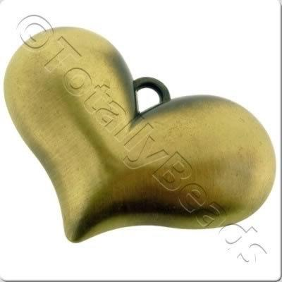 Acrylic Bronze Charm - Heart 60mm