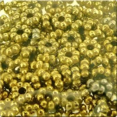 Acrylic Antique Gold Bead - 4mm Flower