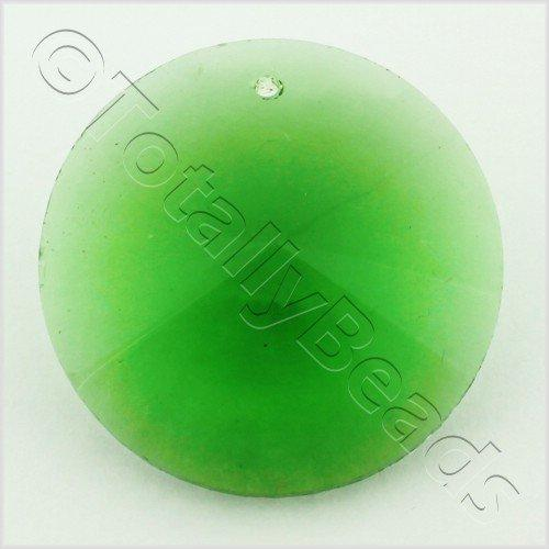 Glass Pendant Rivoli Disc 30mm - Green