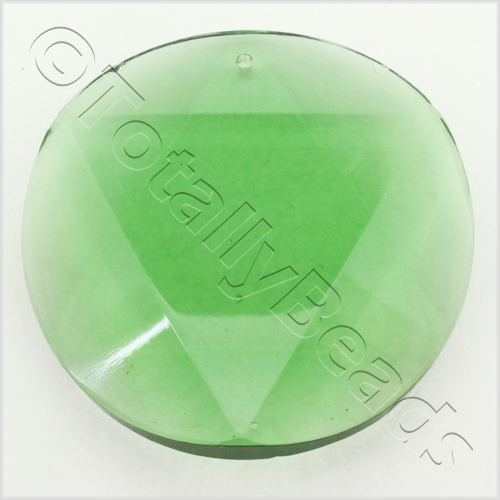 Glass Pendant 6 Point Disc 50mm - Green