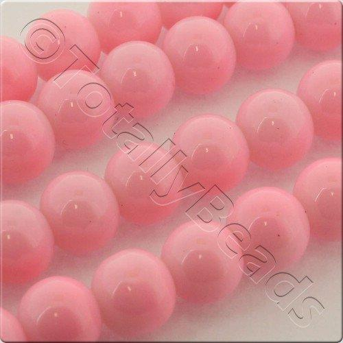 Glass Bead Round 8mm - Pink