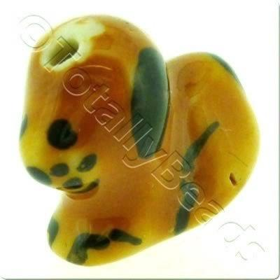 Ceramic Animal Bead - Dog