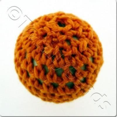 Crochet Bead 22mm - Orange