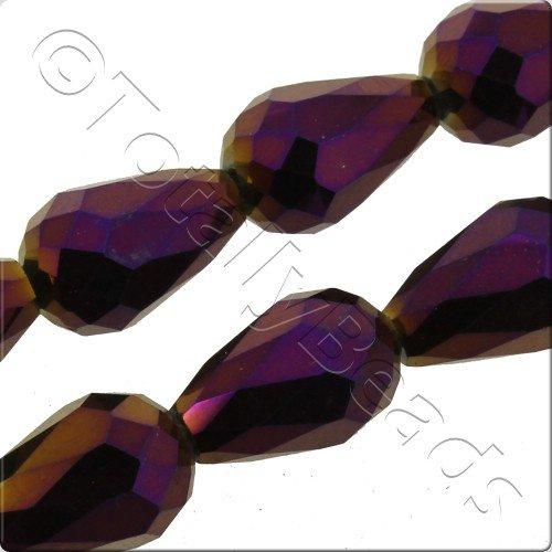 Crystal Drop 10x15mm - Purple Iris