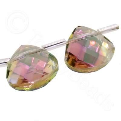 Crystal Flat Drop 10mm - Clear Rainbow