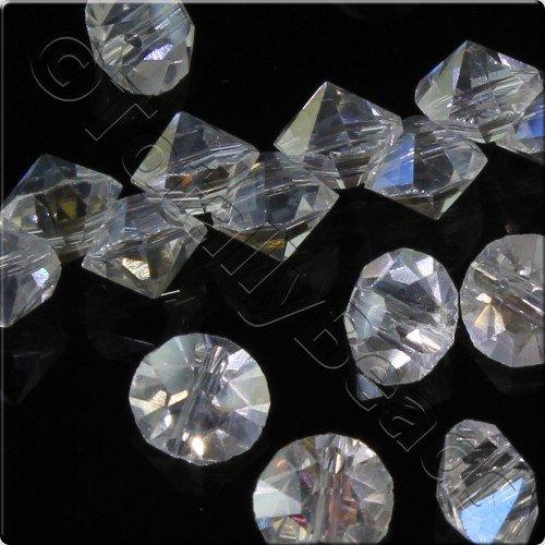 Crystal 6mm Diamond Point - Crystal AB 15pcs