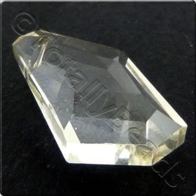 Crystal Pendant - Drop 25x13mm - Light Champagne