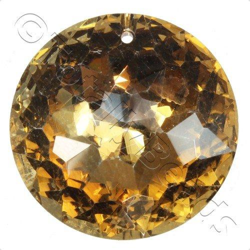 Crystal Pendant - Disc 30mm - 8 Point Coffee B