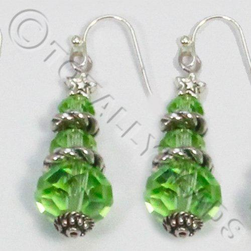 Christmas Tree Earrings - Bright Green