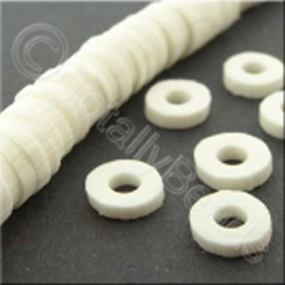 Fimo Heishi Disc 6mm - White - 150pcs