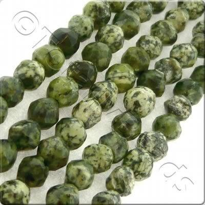 Green Lace Stone 3mm Facet Round