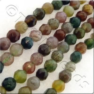 India Agate 3mm Facet Round