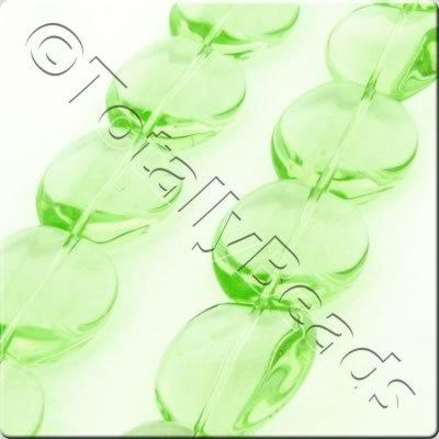 Glass Apple - 17mm - Light Green - 19pcs