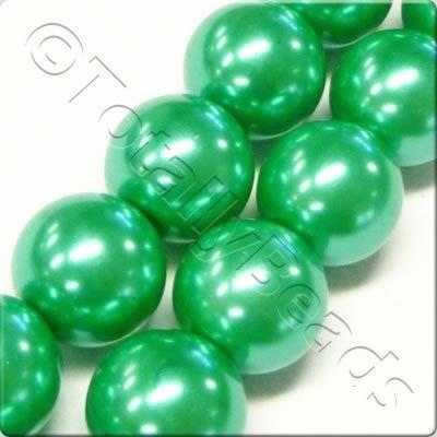 Glass Pearl Round 6mm Sea Foam Green Grade B