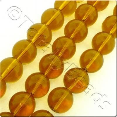 Glass Round - 13mm - Brown