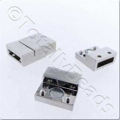 Magnetic Clasp - Square14mm - Rhodium Plate