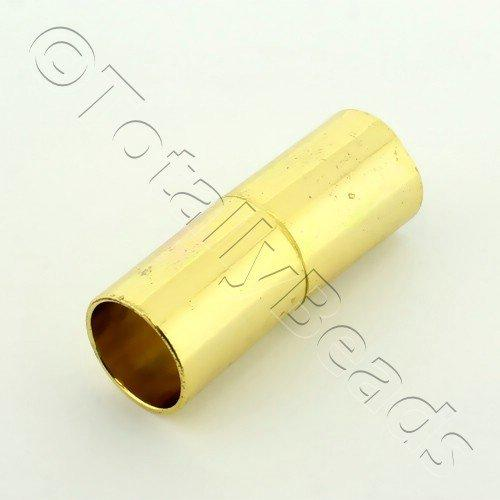 Magnetic Tube Clasp 24x9mm - Gold Plated 1pcs