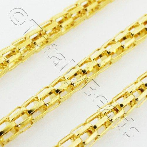 Chain Gold Plated - Mesh 3mm