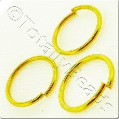 Jump Rings 12x1.2mm - Gold Plated