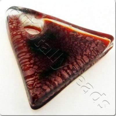 Lampwork Pendant - Triangle 36mm - LPR09