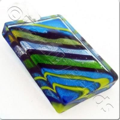 Lampwork Pendant - Rectangle 52mm - LPT30
