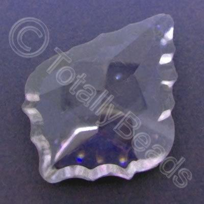 Glass Pendant Leaf Drop Lilac - 62mm