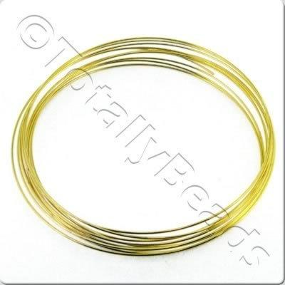 Bracelet Memory Wire 10 Loops - Gold Plated