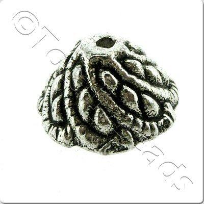 Tibetan Silver Bead Cap 11mm - 12pcs