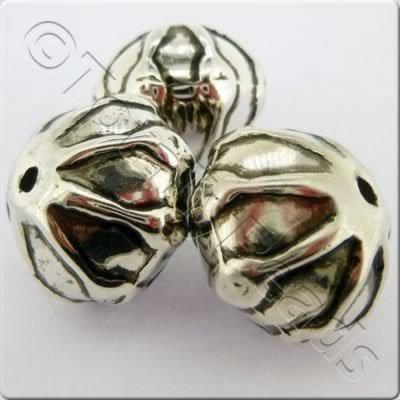 Acrylic Antique Silver Bead - Round 22mm
