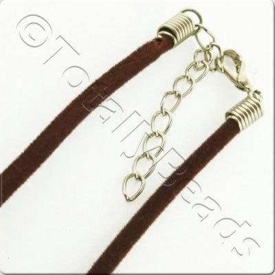 Velour Necklace Cord - Haselnut Brown