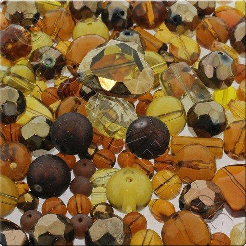 250g Glass Bead Mix - Brown
