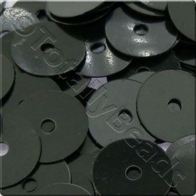 Sequins - 8mm Disc - Opaque Black