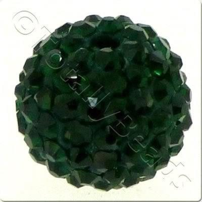Crystal Ball Bead - 18mm Round - Emerald