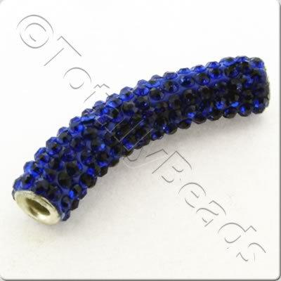 Shamballa Spacer Tube 40-50mm - Royal Blue