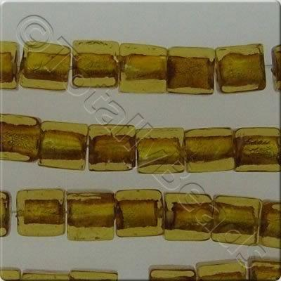 Silver Foil Cubes - 10mm - Gold